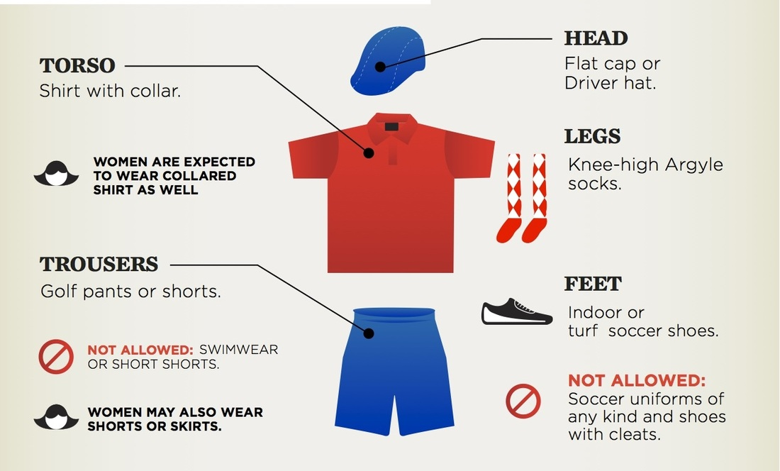 3c0e1069 The Basic FootGolf Rules. Wear appropriate clothing - golf cap, collared  shirt and argyle socks ...